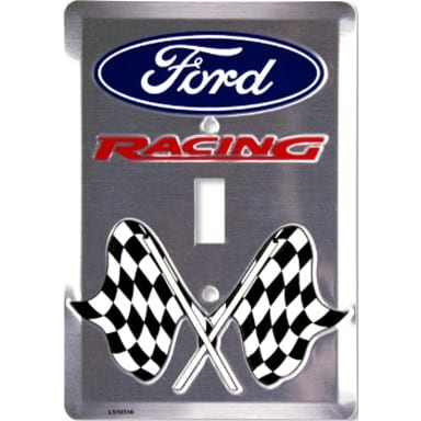 Ford Racing Flags Light Switch Cover