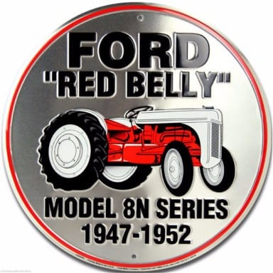 Ford Red Belly Tractor Circle Sign