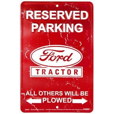 Ford Merchandise - Tractor Parking Sign