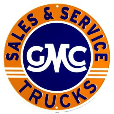 General Motors Merchandise - GMC Trucks Circle Sign