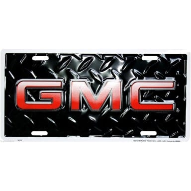 General Motors Merchandise - GMC Diamond Plate License Plate