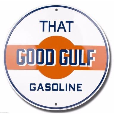 That Good Gulf Gasoline Circle Sign