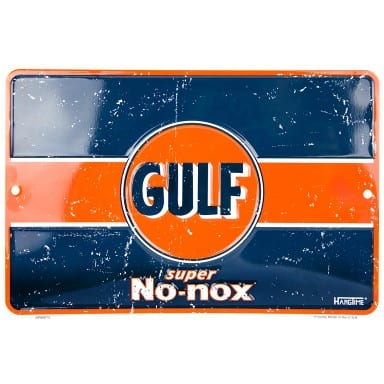 Gulf Gasoline Super No Nox Sign