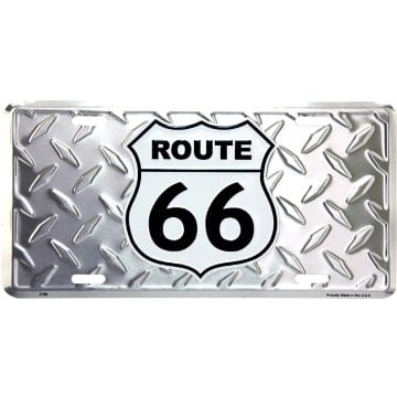 Route 66 Merchandise - Diamond License Plate