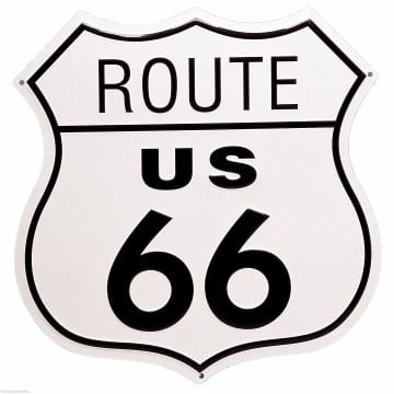 Route 66 Merchandise - Highway Shield Sign