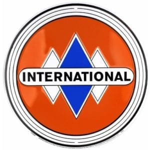 International Orange Circle Sign