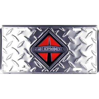 International Trucks Diamond Plate Auto Tag