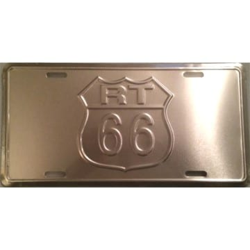 Route 66 Merchandise - Chrome License Plate