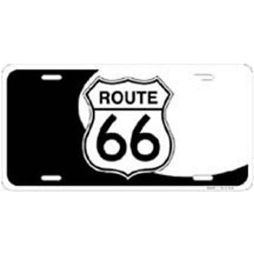 Route 66 Merchandise - Yin Yang License Plate