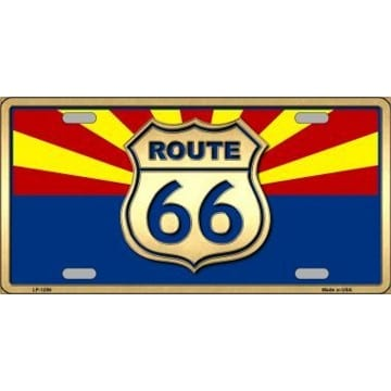 Route 66 Merchandise - Arizona Route 66 License Plate