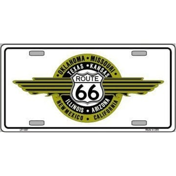 Route 66 Merchandise - Shield Emblem License Plate