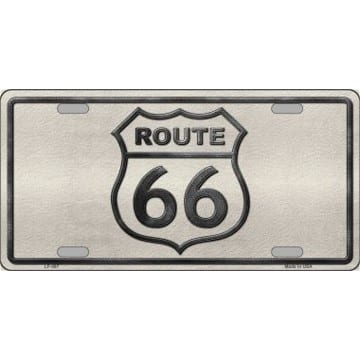 Route 66 Merchandise - Gray License Plate
