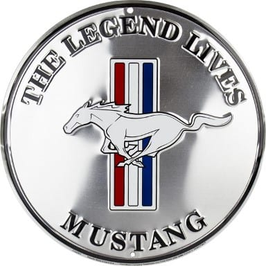 Ford Mustang Merchandise - The Legend Lives Circle Sign