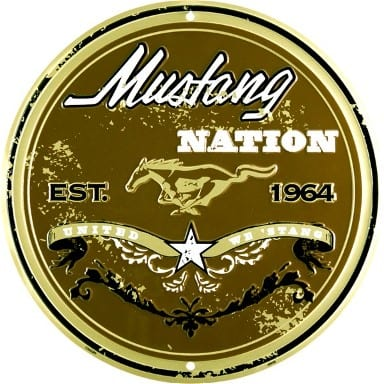 Ford Mustang Nation Circle Sign