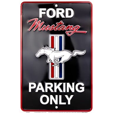 Ford Mustang Merchandise - Parking Sign