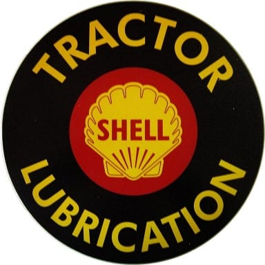 Shell Tractor Lubrication Circle Sign