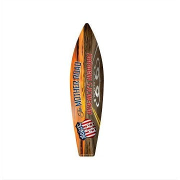 Route 66 Merchandise - Mother Road Surfboard Sign
