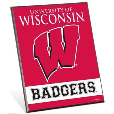 Wisconsin Badgers Easel Sign