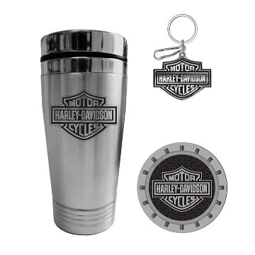 Harley Davidson Bar and Shield Tumbler Gift Set