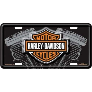 Harley Davidson Merchandise - V Twin License Plate