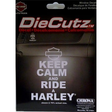 Harley Davidson Merchandise - Keep Calm Decal