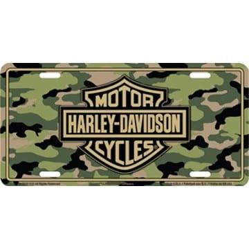 Harley Davidson Merchandise - Camo License Plate