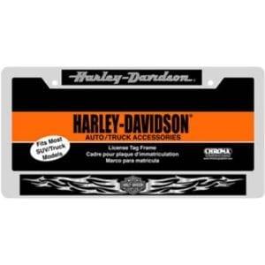 Harley Davidson Domed Metal License Plate Frame