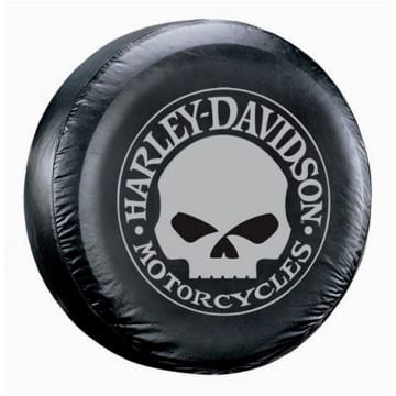 Spare Tire Cover - Harley Skull