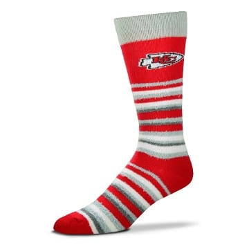 Kansas City Chiefs - Muchas Rayas (Red) Socks