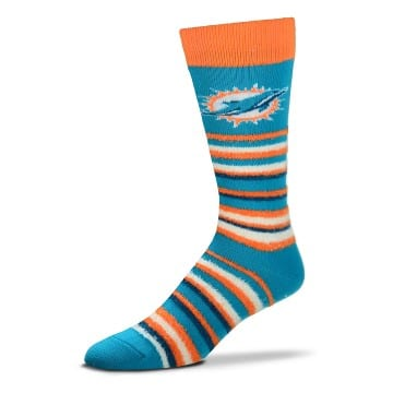 Miami Dolphins - Muchas Rayas (Teal) Socks