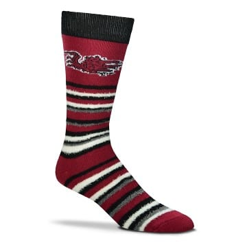 South Carolina Gamecocks Merchandise - Fuzzy Crew Cut Socks