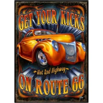Get Your Kicks Route 66 Metal Sign