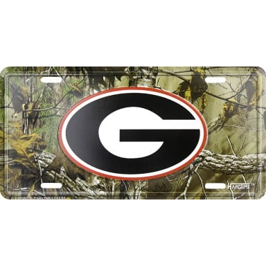 Georgia Bulldogs Merchandise - Realtree Camo License Plate