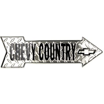 Chevy Country Arrow Sign