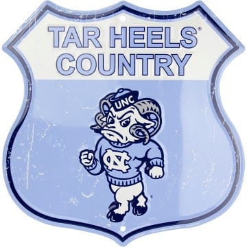 North Carolina Tar Heels Merchandise - Shield Sign