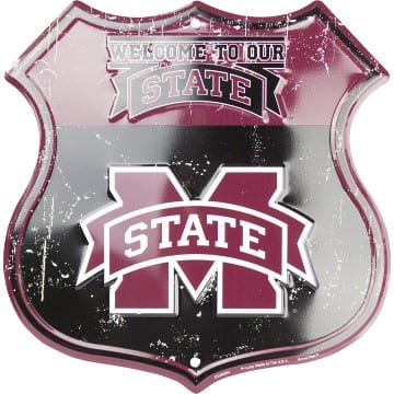 Highway Shield Sign - Mississippi State Bulldogs