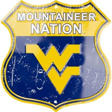 West Virginia Mountaineers Merchandise - Shield Sign