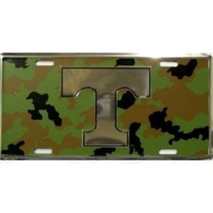 Tennessee Volunteers Merchandise - Camo License Plate