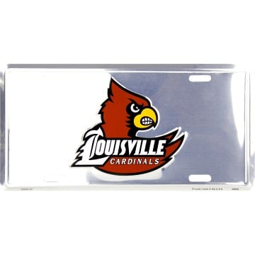 Louisville Cardinals Merchandise - Chrome License Plate