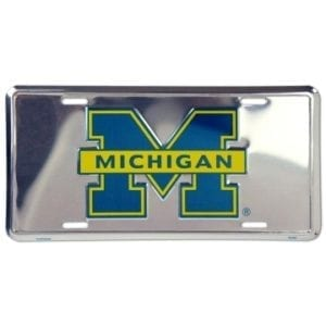 Michigan Wolverines Merchandise - Chrome License Plate