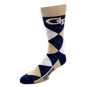 Georgia Tech Yellow Jackets Argyle Socks