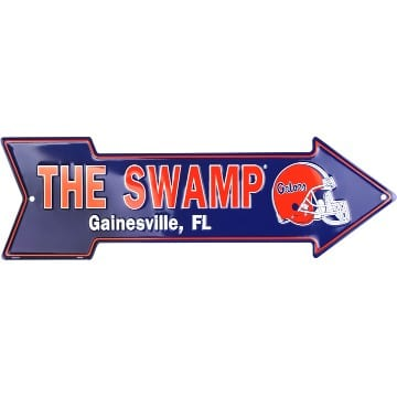Florida Gators Merchandise - The Swamp Arrow Sign