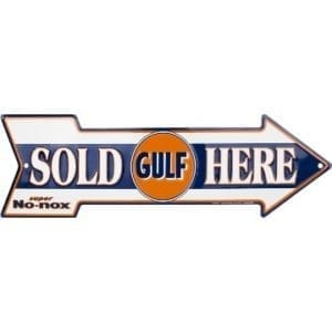 Gulf Merchandise - Sold Here Arrow Sign