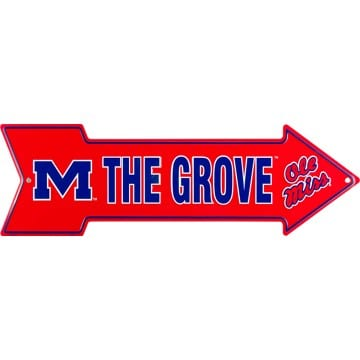 Ole Miss Rebels Merchandise - The Grove Arrow Sign