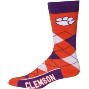 Clemson Tigers Merchandise - Argyle Socks