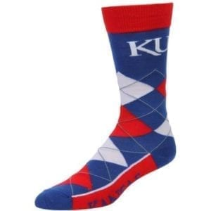 Kansas Jayhawks Merchandise - Argyle Socks