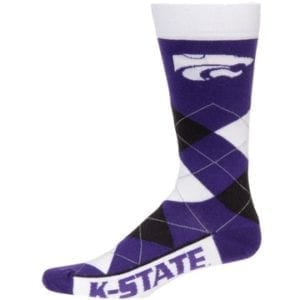 Kansas State Wildcats Merchandise - Argyle Socks