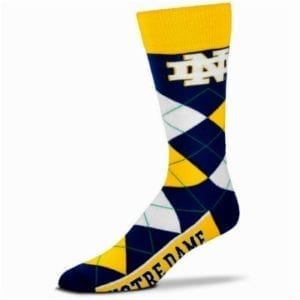 Notre Dame Fighting Irish Merchandise - Argyle Socks