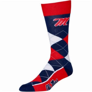 Socks - Argyle - Ole Miss