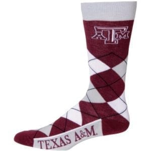 Texas A&M Aggies Merchandise - Argyle Socks